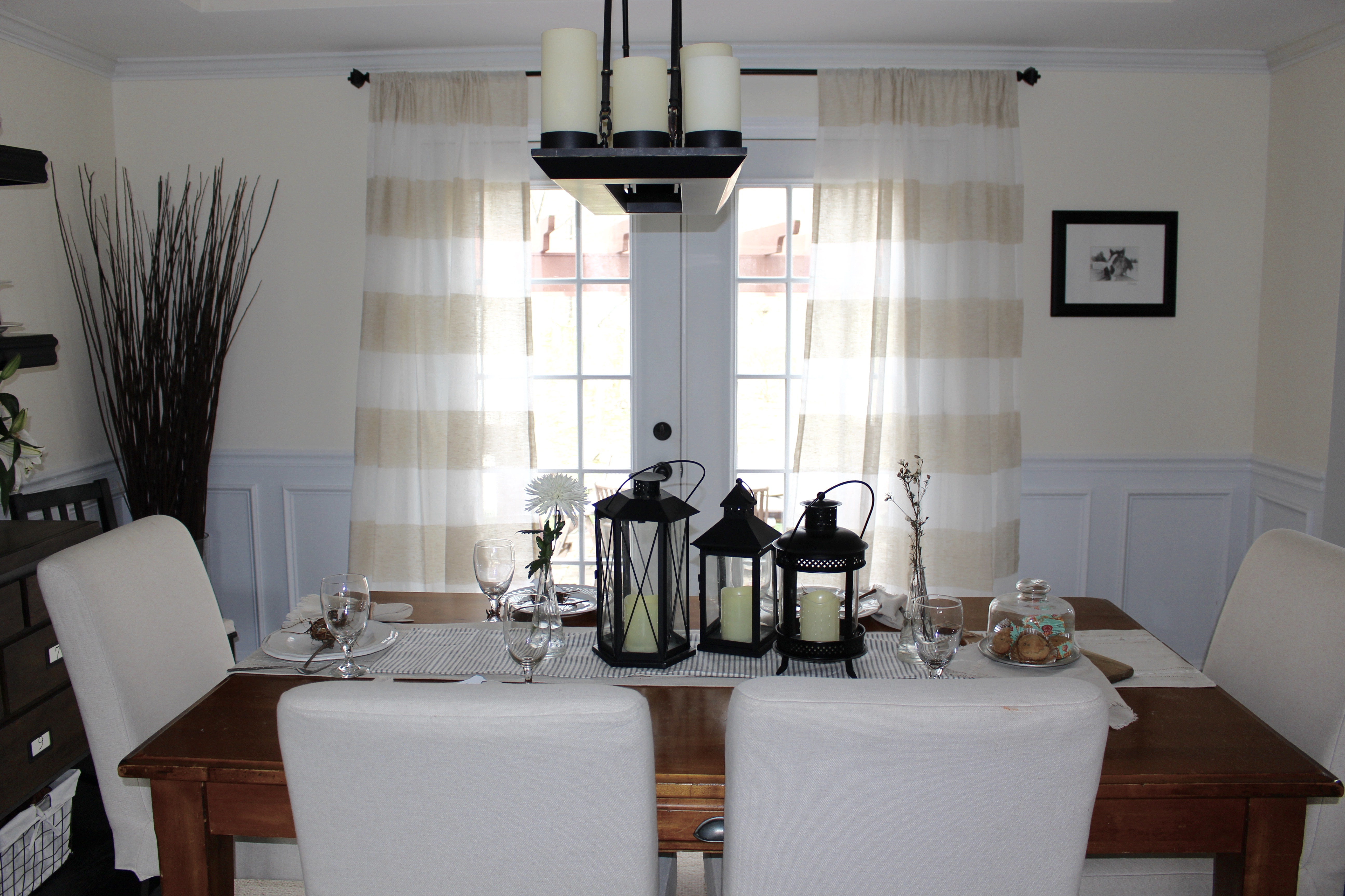 Dining Room for Spring by www.mylifefromhome.com
