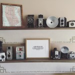 Vintage Camera Collection Gallery Wall