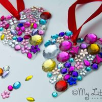 Valentine Craft - Jewelled Milk Bottle Sun Catchers