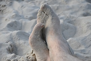 Beach sand - a natural skin exfoliation