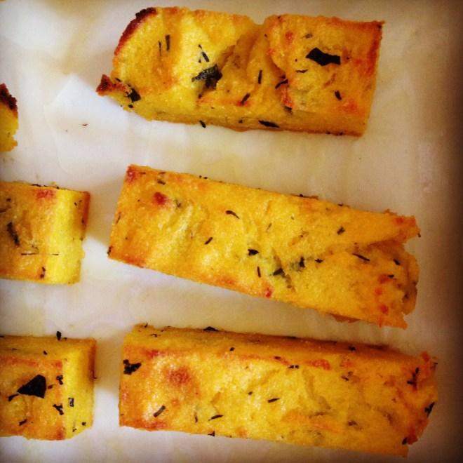 herbed polenta chips
