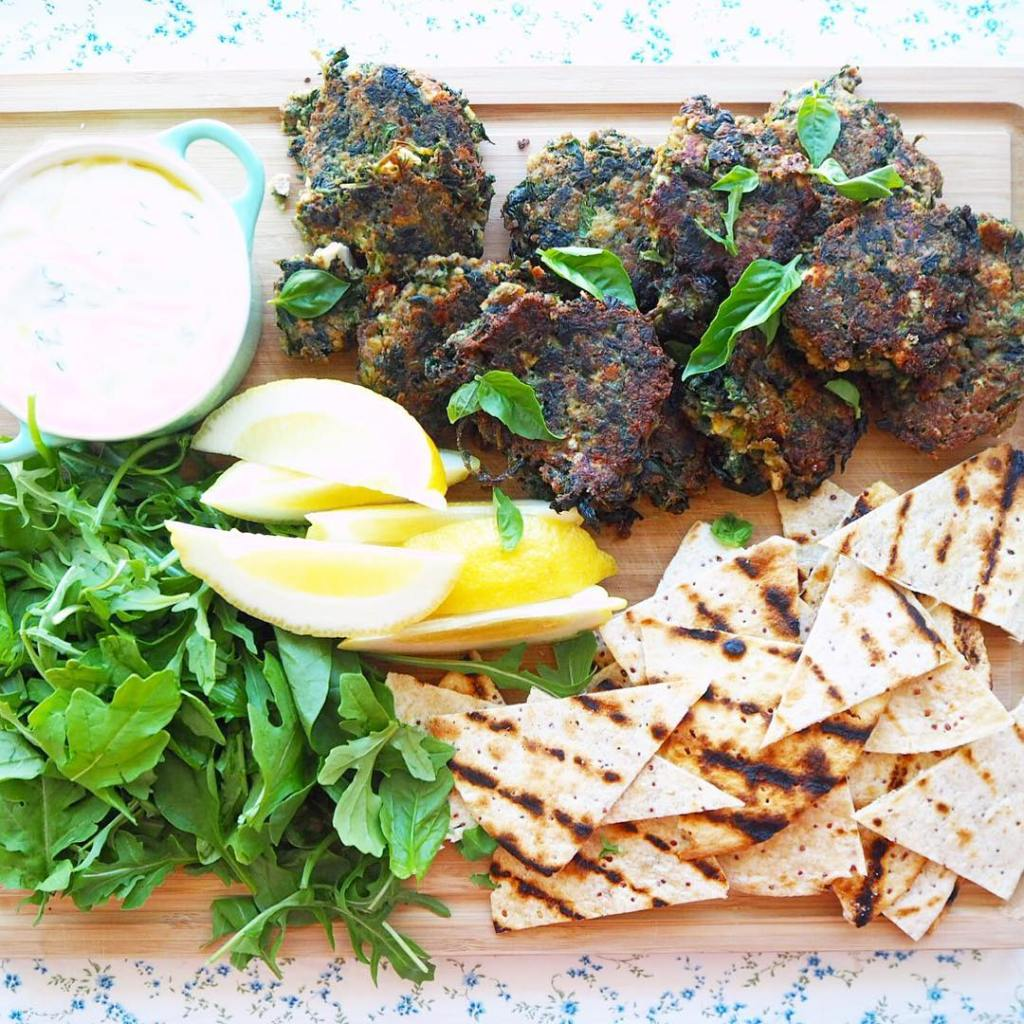 MEAT FREE MONDAY lentil fritters w dill amp lemony yoghurthellip