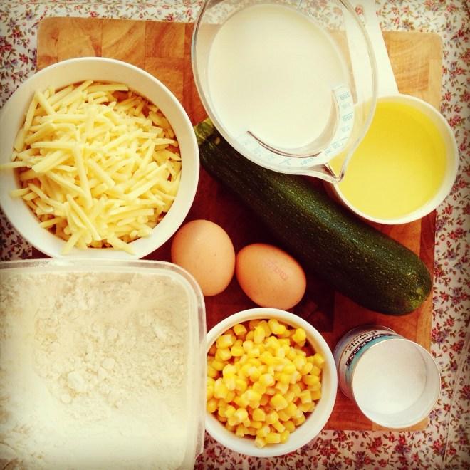 zucchini, corn & cheddar loaf