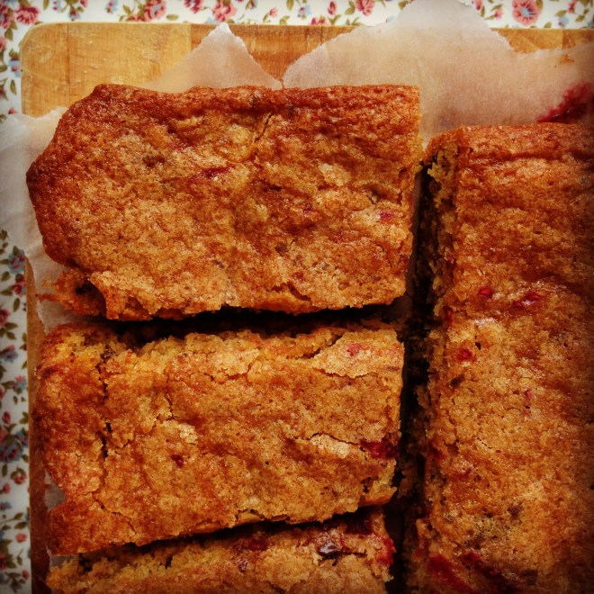raspberry & chocolate blondies