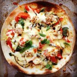 tuna mediterranean vegetable pizza