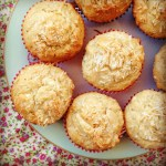 lime, coconut & white chocolate muffins