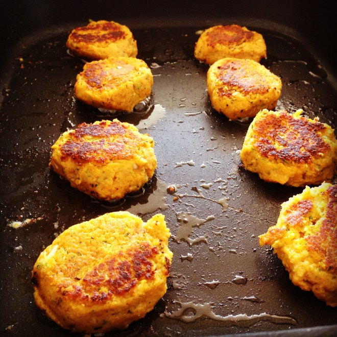 sweet potato & chickpea patties