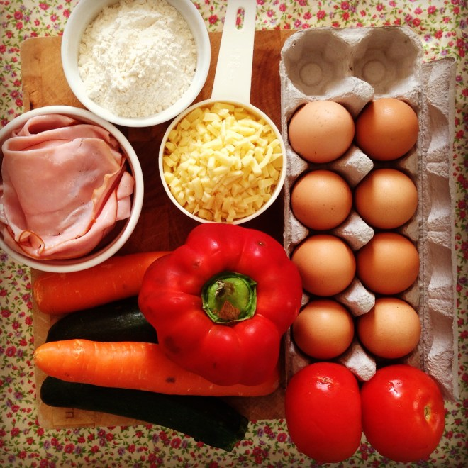 ham & vegetable slice