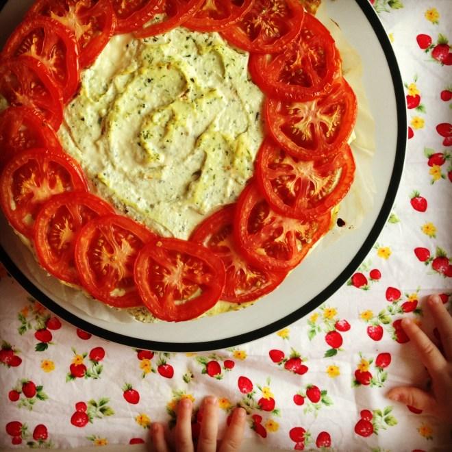 ricotta, herb & tomato pie