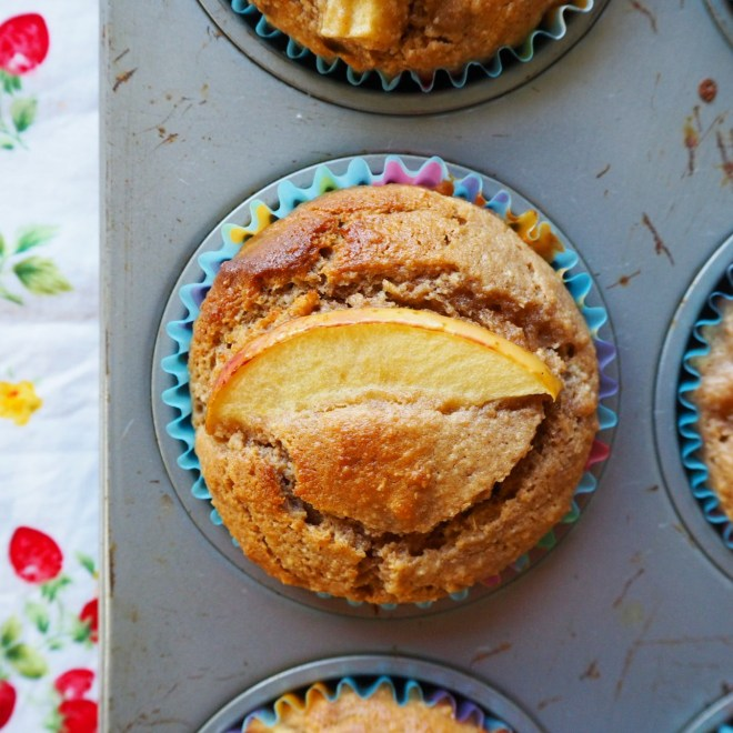 wholemeal apple muffins