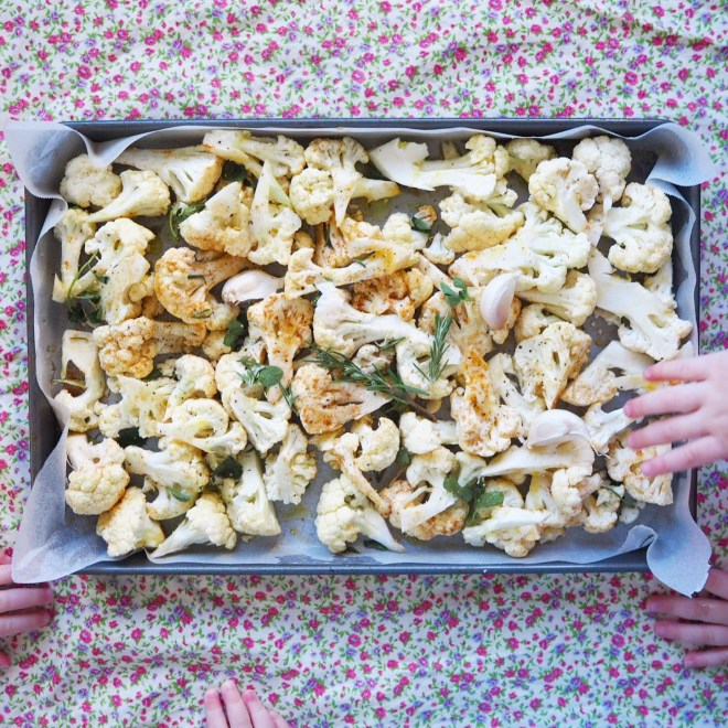 roast cauliflower orecchiette with crispy herb and parmesan crumbs