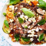 lamb & feta couscous salad