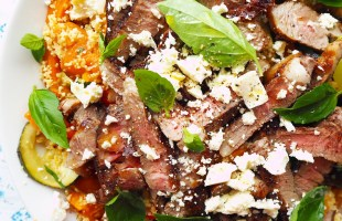 lamb and feta couscous salad
