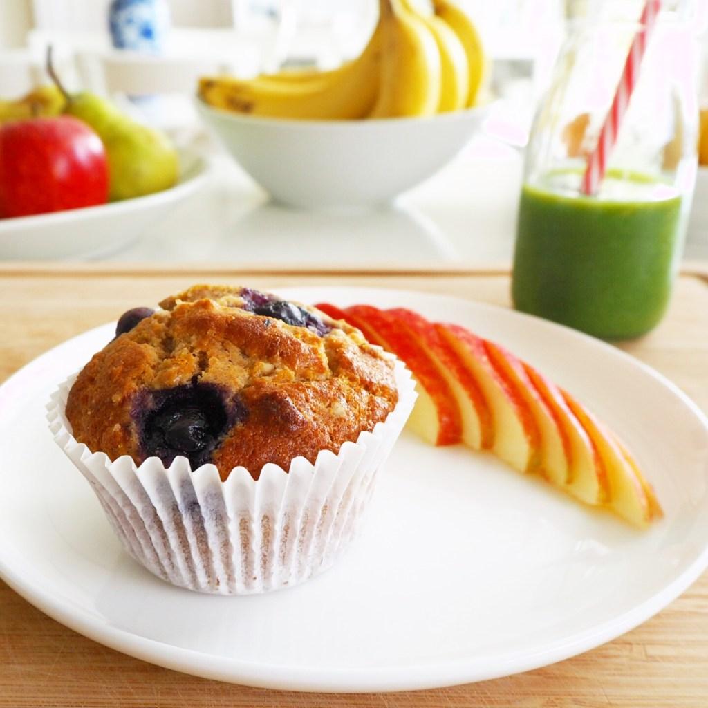 blueberry lemon & spelt muffins