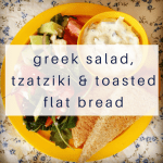 greek-salad-tzatziki-toasted-flat-bread
