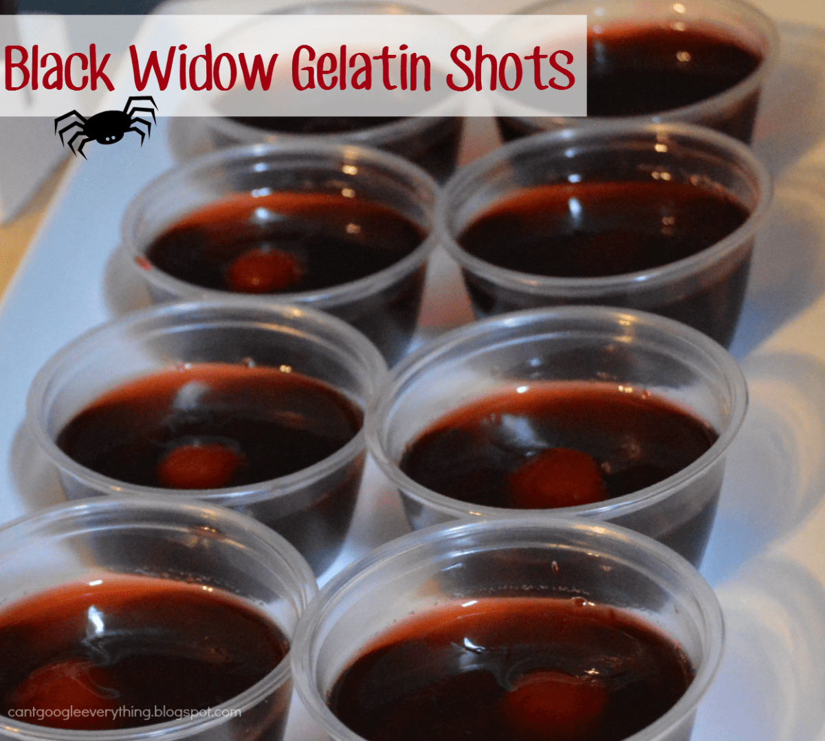 Black Widow Gelatin Shots