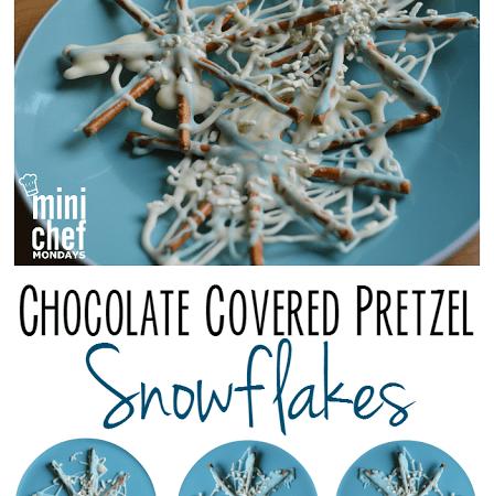 Chocolate Covered Pretzel Snowflakes!