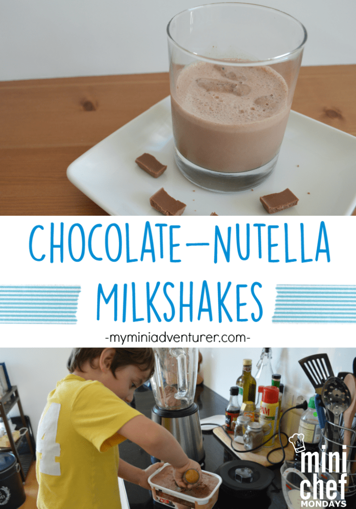 Chocolate Nutella Milkshakes the perfect size for kids