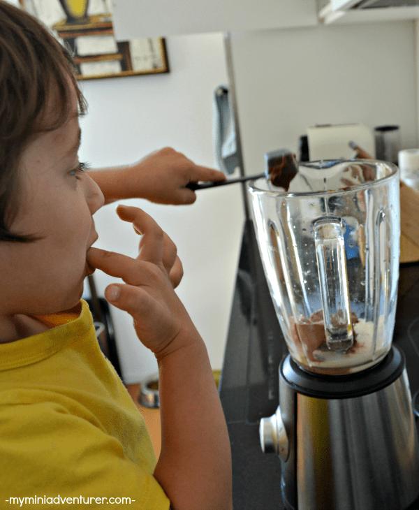 chocolate nutella milkshake add nutella