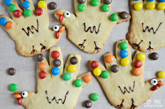 Handprint Turkey Cookies