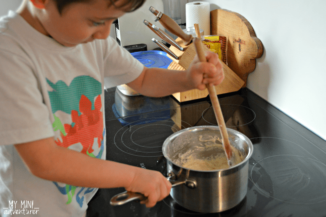 pizza play dough mixing