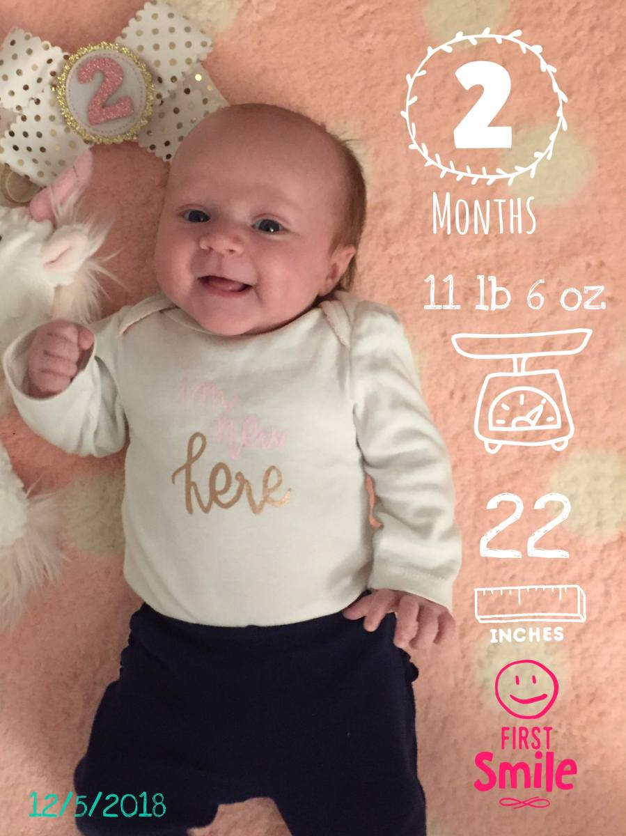 Riley is 2 Months Old!