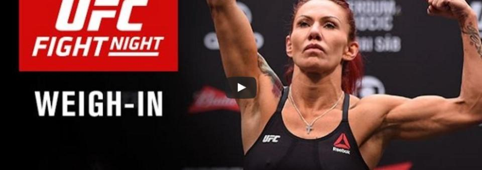 Watch UFC Fight Night Brasilia: Official Weigh-in – 6pm EST