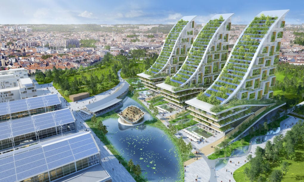 Crazy Conceptual Design for Biomimetic Eco Village in Belgium green sustainable architecture biomimetic design vincent callebaut tour and  taxis