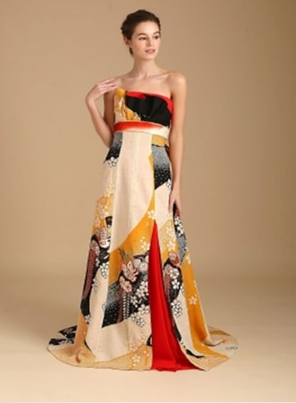 Kimono Wedding Dress Line Features Gowns Made from Antique ...
