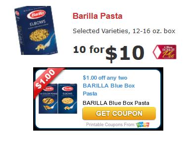Barilla pasta coupons october 2018