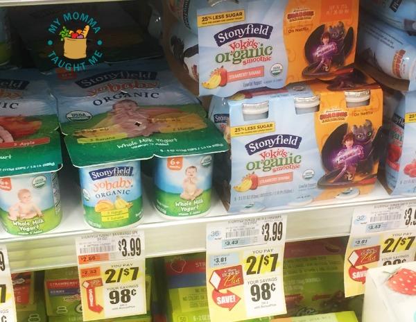 stonyfield yogurts tops markets