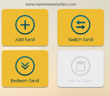 mutual fund add fund option