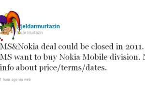Comedy 'rumour' hour: Murtazin to say MS will buy Nokia this year