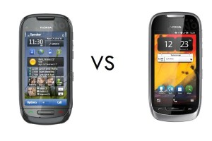 Nokia C7 vs Nokia 701, girls battle it out, Anna vs Belle.