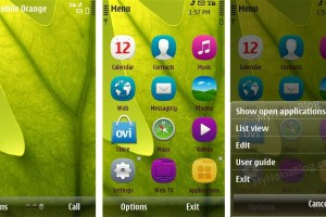 Themes: Transparent Theme GetUp by Manish (For Symbian^3)