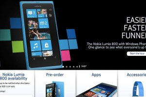 Nokia Lumia 800 at Orange, T-Mobile, Three, Vodafone, Phones 4 U, Carphone Warehouse,  Expansys and MobileFun  (+preview video)