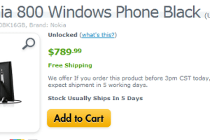 Lumia 800 Available In US through Expansy (Not Exactly a Black Friday Deal)