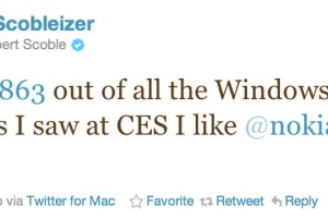 @Scobleizer liked Nokia's Windows Phones the best at CES #Lumia