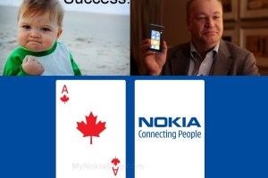 Video: Elop pulls success kid face. Tells of Lumia 710 for Rogers and Lumia 800 for Telus Canada