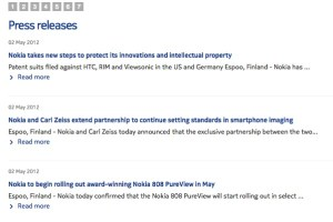 Nokia Press: Patent Infringements and Carl Zeiss