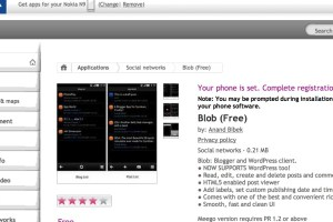 N9Apps: WordPress app, Blob available at Nokia Store