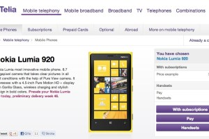 Nokia Lumia 920 at Telia, Sweden too.