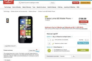 Nokia Lumia 620 available at Argos (UK/Ireland), coming to Carphone Warehouse in February