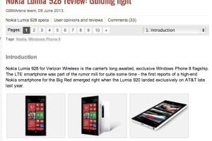 GSM Arena's Review of the Nokia Lumia 928