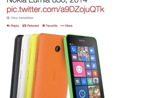 LeakyLeak: Slim looking all touch Nokia Lumia 630. No camera button, No camera flash.