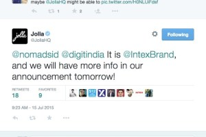 New Jolla Smartphone from OEM, Intex tomorrow with Sailfish OS 2