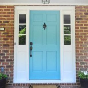 THE PETERSIK'S FRONT DOOR FROM YOUNG HOUSE LOVE