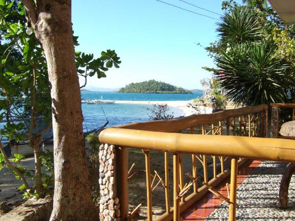 View from balcony of one of the beach cottages.  Marbuena Island Resort