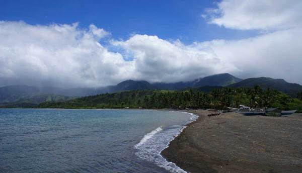 View from Lipata Port to the mountains of Culasi, Antique