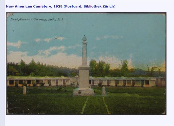 Iloilo Philippine American Cemetery - postcard dated 1928